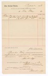 1886 November 2: Voucher, to Alexander May; includes cost of services rendered as janitor; Stephen Wheeler, clerk; John Carroll, U.S. marshal
