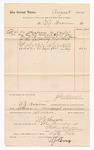 1886 November 4: Voucher, to W.J. Brown; includes cost of services rendered as bailiff; Stephen Wheeler, clerk; S.A. Williams, deputy clerk; John Carroll, U.S. marshal