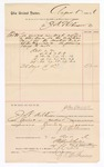 1886 November 2: Voucher, to J.A. Wilkinson; includes cost of services rendered as crier; Stephen Wheeler, clerk; S.A. Williams, deputy clerk; John Carroll, U.S. marshal