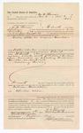 1886 November 9: Voucher, to M.B. Thomas, of Fort Smith, Arkansas, for assisting Jesse Campbell, deputy marshal, in U.S. v. William Hamilton; Stephen Wheeler, commissioner; John Carroll, U.S. marshal
