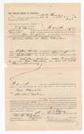 1886 November 9: Voucher, to M.B. Thomas, of Fort Smith, Arkansas, for assisting Jesse Campbell, deputy marshal, in U.S. v. Bole Cheatam; Stephen Wheeler, commissioner; John Carroll, U.S. marshal