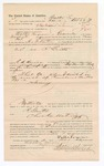 1886 November 9: Voucher, to Walter Ferguson, of Evansville, Arkansas, for assisting George O. Denton, deputy marshal, in U.S. v. R. Gritts; E.B. Harrison, commissioner; Stephen Wheeler, clerk; John Carroll, U.S. marshal