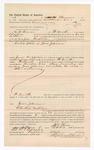 1886 November 9: Voucher, to M.B. Thomas, of Fort Smith, Arkansas, for assisting Jesse Campbell, deputy marshal, in U.S. v. Gene Johnson; James Brizzolara, commissioner; Stephen Wheeler, clerk; John Carroll, U.S. marshal