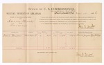 1886 November 17: Voucher, U.S. v. Aaron Mosely, larceny; includes cost of per diem and mileage; David Grayson, witness; Jonathan Q. Tufts, commissioner; John Carroll, U.S. marshal; E.B. Tufts, witness to signatures
