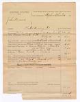 1886 November 19: Voucher, U.S. v. John Brown, introducing spiritous liquors; includes cost of warrant and feeding prisoner; Andrew Smith, deputy marshal; Stephen Wheeler, commissioner; Joshua Heady, posse comitatus