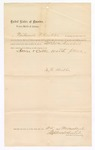 1886 November 25: Letter of surety, Nathaniel F. Kribbs; includes list of property with price; Stephen Wheeler, commissioner