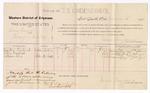 1886 December 6: Voucher, U.S. v. Henry Harris, larceny; includes cost of per diem and mileage; Martha Kendrick, Lillie Warfield, William Lewis, witnesses; James Brizzolara, commissioner; J.C. Pettigrew, witness to signatures; M.H. Sandels, district attorney