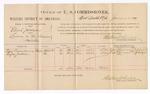 1887 January 14: Voucher, U.S. v. Elijah Jackson, larceny; includes cost of per diem and milage; Elsey Quesenberry, Rufus Jackson, witnesses; Stephen Wheeler, commissioner; John Carroll, U.S. marshal; J.C. Pettigrew, witness to signatures