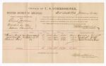 1887 January 13: Voucher, U.S. v. Elijah Jackson, murder; includes cost of per diem and mileage; Henry Kemp, Jack Wolfe, Robert Reel, witnesses; Stephen Wheeler, commissioner; John Carroll, U.S. marshal; J.R. Cole, witness to signatures