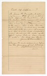 1887 January 1: Oath of office, of James B. Forrester, U.S. assistant attorney; Stephen Wheeler, clerk
