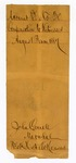 1887 August 27: Envelope, compensation to witnesses, August Term 1887; John Carroll, U.S. marshal