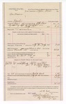 1888 March 1: Voucher, U.S. v. Ben Brown, murder, including cost for mileage and feeding prisoner; W.H. Carr, deputy marshal; Stephen Wheeler, commissioner; Julia Love, Anna Wilson, Ben Grayson, witnesses; Ed Haglan, deputy clerk