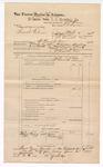 1888 June 30: Voucher, U.S. v.. Frank Elmer, introducing spirituous liquor; J.M. Ennis, deputy marshal; John Carroll, U.S. marshal; Stephen Wheeler, commissioner