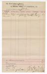 1888 June 30: Voucher, to J.M. Ennis, deputy marshal; John Carroll, U.S. marshal; includes costs in U.S. v. A.L. Larson, assault; John Lawson, Turner Enridge, witnesses