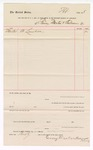 1888 March 30: Voucher, to Tenney Martin and Anderson; includes cost for lumber; John Carroll, U.S. marshal