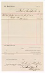 1888 March 31: Voucher, to Fort Smith Gas Co.; includes cost for gas consumed at U.S. Jail; John Carroll, U.S. marshal