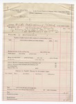 1888 April 12: Voucher, U.S. v. Johnson Thompson, forfeited bond for appearance of P.A. Noland; includes cost of summons; B. Connelley, deputy marshal
