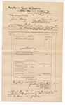 1888 June 30: Voucher, U.S. v. Jack Bailey, larceny; includes cost of subpoena for witnesses; J.M. Ennis, deputy marshal; John Carroll, U.S. marshal; Frank Lock, John Freeman, J.B. Kelley, E.S. Locke, Thomas Adkins, witnesses; James Brizzolara, commissioner