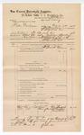 1888 June 30: Voucher, U.S. v. Willie Anderson, larceny; includes cost of warrant and subpoena for witnesses; J.M. Ennis, deputy marshal; John Carroll, U.S. marshal; Clint Boatright, One Barnhill, Eddy Turner, witnesses; James Brizzolara, commissioner