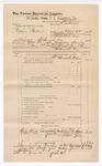 1888 June 30: Voucher, U.S. v. Cephus Hubbard, introducing spirituous liquor; includes cost of warrant and subpoena of witnesses; J.M. Ennis, deputy marshal; John Carroll, U.S. marshal; Nicholas Patterson, Albert Tom, Simon James, witnesses; James Brizzolara, commissioner
