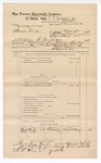 1888 June 30: Voucher, U.S. v. Frank Miller, assault with intent to kill; includes cost of subpoena for witness; J.M. Ennis, deputy marshal; John Carroll, U.S. marshal; Scott O'Donald, witness; James Brizzolara, commissioner