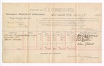 1888 April 12: Voucher, U.S. v. Daniel Manly, larceny; includes cost of per diem and mileage; Charles Woodward, Crowder Nix, Charles Snowden, witnesses; James Brizzolara, commissioner; John Carroll, U.S. marshal