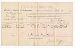 1888 April 12: Voucher, U.S. v. John Leger, introducing spiritous liquors; includes cost of per diem and mileage; Adam Manly, Cub McIntosh, witnesses; James Brizzolara, commissioner; John Carroll, U.S. marshal