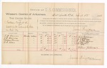 1888 April 12: Voucher, U.S. v. Nathan Cook, assault with intent to kill; includes cost of per diem and mileage; G.W. Barnes, J.B. Barnes, William Barnes, R.C. Allen, witnesses; James Brizzolara, commissioner; John Carroll, U.S. marshal