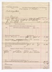 1888 April 21: Voucher, U.S. v. Fred Seigenttales, larceny; includes cost of warrant and feeding prisoner; Charels LaFlore, deputy marshal; Stephen Wheeler, commissioner; One Childers, witnesses