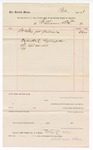 1888 April 20: Voucher, to Williams Bros.; includes cost for goods for prisoners