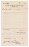 1888 April 23: Voucher, to E. Bollman & Co.; includes cost for mattresses; John Carroll, U.S. marshal