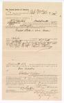 1888 May 3: Voucher, to A.J. Madox, of Fort Smith, Arkansas, for assisting B.T. Hughes, deputy marshal, in U.S. v. Doc Madox; John Carroll, U.S. marshal; Stephen Wheeler, commissioner; Ed Haglin, deputy clerk