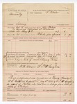 1888 June 22: Voucher, U.S. v. Assucrally, larceny; includes cost of mileage and feeding prisoner; John Phillips, deputy marshal; Stephen Wheeler, commissioner; W.H. Wilson, posse comitatus; L.P. McLaughlin, guard; A.S. Cabell, deputy marshal