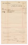 1888 April 30: Voucher, to Sengel & Shulte; includes cost for lock, nails, ax handle, and other goods; John Carroll, U.S. marshal