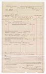 1888 May 8: Voucher, U.S. v. Alexander Still, introducing spiritous liquor; includes cost of mileage and feeding prisoner; B. Connelley, deputy marshal; E.B. Harrison, commissioner; Stephen Wheeler, clerk