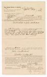 1888 May 1: Voucher, to A.J. Madox, Fort Smith, Arkansas, for assisting B.T. Hughes, deputy marshal, in U.S. v. John Southerland; James Brizzolara, commissioner; John Carroll, U.S. marshal; Stephen Wheeler, clerk; Ed Haglin, deputy clerk