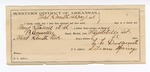 1888 May 2: Voucher, U.S. v. Pomp Stancil, introducing and selling spiritous liquor; includes cost of horse feed from J.B. Huny and Co.; B. Connelley, deputy marshal; E.B. Harrison, commissioner; Eli Warford, Dave Williams, witnesses; L.L. Duckworth, guard