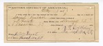 1888 May 8: Certificate of employment, to P.F. Overholser, guard; Samuel Runhard, prisoner; J.P. Lundy, deputy marshal, J.W. Burt, witness of signature