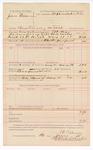 1888 May 26: Voucher, U.S. v. John Freeman, threatening to kill; includes cost of mileage and feeding prisoner; J.B. Lee, deputy marshal; B.T. Shelbum, posse comitatus; Stephen Wheeler, commissioner