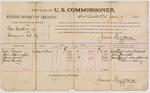 1888 June 9: Voucher, U.S. v. Charles Clark et al., larceny; includes cost of per diem and mileage; Buck Rogers, John Harrington, James Jones, James Cooney, witnesses; James Brizzolara, commissioner; John Carroll, U.S. marshal