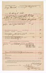 1888 July 20: Voucher, U.S. v. Genj Stennett, threatening to kill; includes cost of ferriage over Arkansas River; J.K. Barling, deputy marshal; W.W. Earley, posse comitatus; J.W. Williamson, Bill Young, Mr. Valentine, Mrs. Valentine, witnesses; Ed Haglin, deputy marshal; James Brizzolara, commissioner