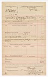 1888 July 4: Voucher, U.S. v. D.B. McCollough (alias McCrarry), introducing spiritous liquors; includes cost of warrant and feeding prisoner; B. Connelley, deputy marshal; E.B. Harrison, commissioner; Stephen Wheeler, clerk; Ed Haglin, deputy clerk
