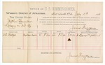 1888 July 3: Voucher, U.S. v. Stephen Alexander, larceny; includes cost of per diem and mileage; D.W. Hodges, witness; John Carroll, U.S. marshal; James Brizzolara, commissioner; J.C. Pettigrew, witness of signatures