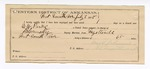 1888 July 3: Voucher, U.S. v. E.W. Parks, introducing and selling spiritous liquor; includes cost of mileage and feeding prisoner; B. Connelley, deputy marshal; E.B. Harrison, commissioner; Newt Johnson, guard
