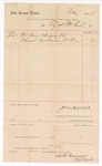 1888 July 7: Voucher, to City of Fort Smith; includes cost for grave and digging for J. Thomas, deceased prisoner; John Carroll, U.S. marshal; James H. Hamilton, city clerk