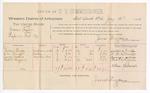 1888 July 14: Voucher, U.S. v. Moses Taylor, rape; includes cost of per diem and mileage; Susan Brady, G.M. Scruggs, George Weems, Robert Higgins, witnesses; John Carroll, U.S. marshal; James Brizzolara, commissioner