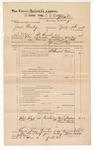 1888 December 31: Voucher, U.S. v. Jack Bailey, larceny; includes cost of mileage and subpoena for witnesses; J.M. Ennis, deputy marshal; John Carroll, U.S. marshal; Amos Triplett, Jonathan Freeman, Ewun Shields, witnesses