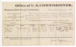 1880 July 17: Voucher, U.S. v. Murphy Wolf and Ben Wolf et al., larceny; includes cost of per diem and mileage; Van Vicks, A. Blevins, J.M. Ross, witnesses; D.P. Upham, U.S. marshal; James Brizzolara, commissioner; John Paterson, witness of signatures