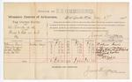 1888 July 17: Voucher, U.S. v. Al French, threatening to kill; includes cost of per diem and mileage; Osborn Lewis, Mary Morgan, Sarah Carter, Andy Carter, witnesses; John Carroll, U.S. marshal; A.S. Cabell, witness to signatures; James Brizzolara, commissioner