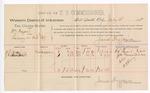 1888 July 18: Voucher, U.S. v. William Hagan, larceny; includes cost of per diem and mileage; H.R. Cason, J.W. Townsend, witnesses; John Carroll, U.S. marshal; James Brizzolara, commissioner